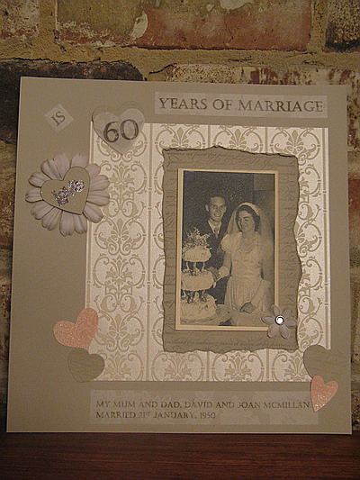 Wedding Anniversary Scrapbook Page Ain Stamp Art By Di
