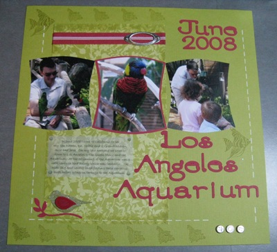 Scrapbook july challenge 001